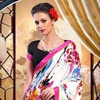 Silk Crepe Printed Saree