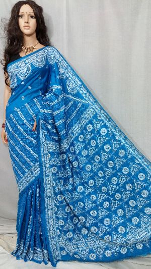 Kantha Work Pure Silk Sarees
