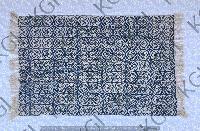 Hand Block Printed Handloom Rug 06