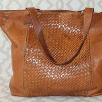 Salma Handcrafted Moroccan Leather Tote Bag