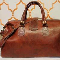 Hamsa Leather Travel Bag