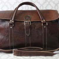 Soufiane Leather Travel Bag