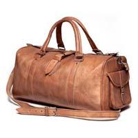 Natural Tan Leather Travel Bag