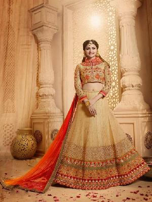 Cotton Embroidered Fancy Lehenga