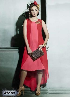 Designer Silk Party Wear Kurti