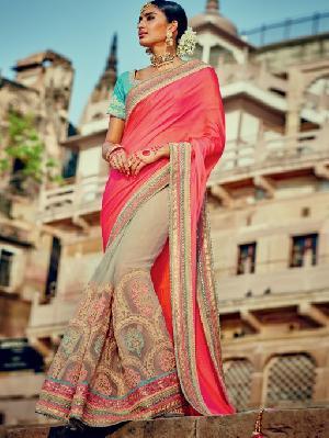 Fancy Embroidered Designer Saree