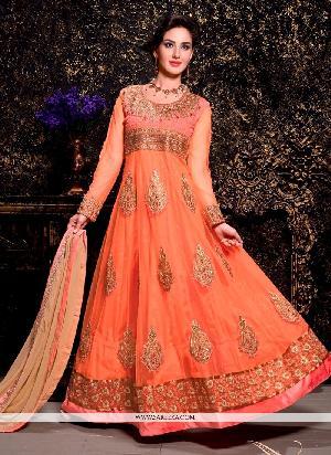 Ladies Silk Anarkali Suit