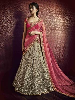 Party Wear Embroidered Lehenga