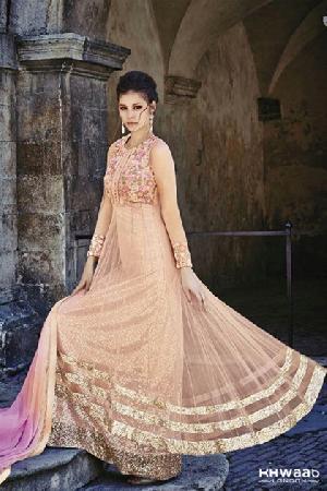 Unstitched Designer Anarkali Suit