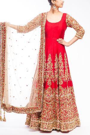 Wedding Flooral Anarkali Suit