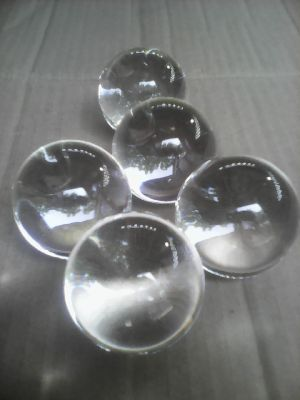 clear transparent glass ball