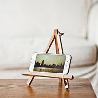 Teak Wood Mobile Holder