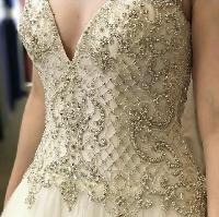 Beaded couture fabric