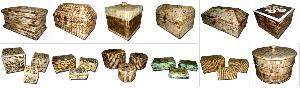 NATURAL ANTIQUE BONE BOXES