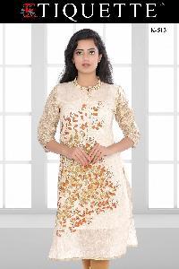 Cotton Khadi Silk Kurtis