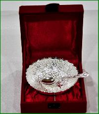 Single Designer Bowl + Spoon (Silver)