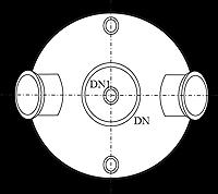 Five Neck Bottom Outlet Spherical Vessel