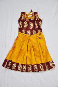 Raw Silk Mango Design Lahenga Blouse