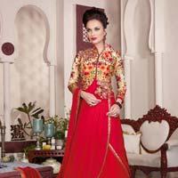 Red heavy work Salwar Suit