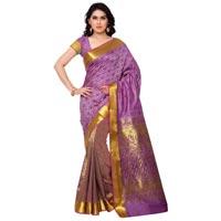 Varkala Paithani Silk Half N Half Patli Saree, Red -violet-hf1102rdv