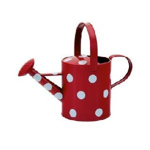 Metal Polka Dot Watering Can