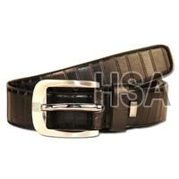 Mens Leather Belt (G58909BLK)