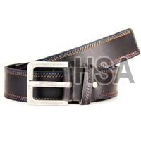 Mens Leather Belt (G58925BLK)