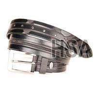 Mens Leather Belt (G58952BLK)