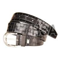 Mens Leather Belt (G58954BLK)
