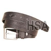 Mens Leather Belt (G58956BLK)