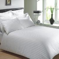 Satin Stripe Bed Sheets