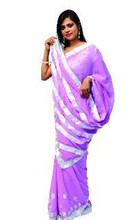 Violet Shiffon Saree