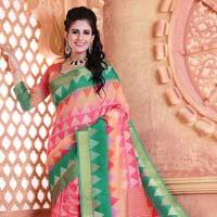 Casual Wear Cotton Cherry Pattu Saree