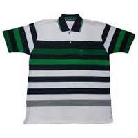 Mens Striped Polo T-shirts