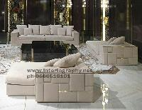 High Life White Sofa Set