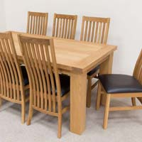 Wooden Dining Table High Back Chair
