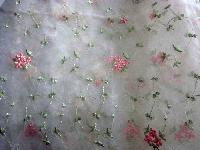 embroidered sheer fabric