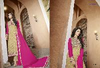 Georgette with heavy embroidery Dress as PYD 11184