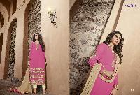 Georgette with heavy embroidery Dress as PYD 11185