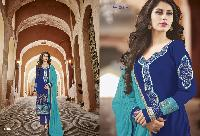 Georgette with heavy embroidery Dress as PYD 11187
