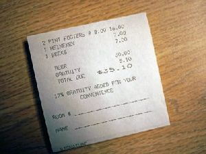 Hotel Billing Paper Sheets