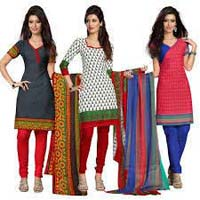 Ladies Unstitched Churidar Suit