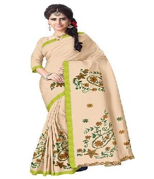 Bengal Cotton Designer Saree With Woolen Embroidery
