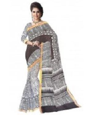 Kerala Cotton Block Printed Saree