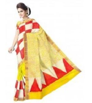 Kerala Cotton Party Wear Saree