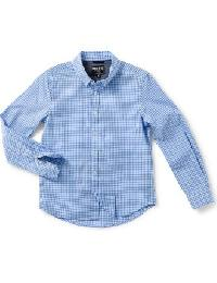 Light Blue Classic Check Pattern Shirt