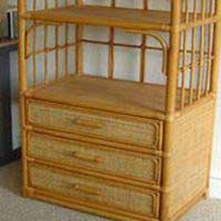 Cane Bookshelf Cupboards