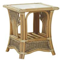 Cane Center Table