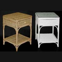Cane Living Room Side Tables
