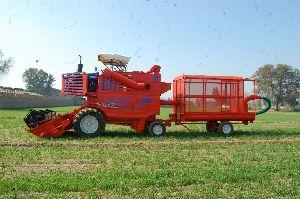 Tractor Mounted Grain Cum Straw Combine Harvester